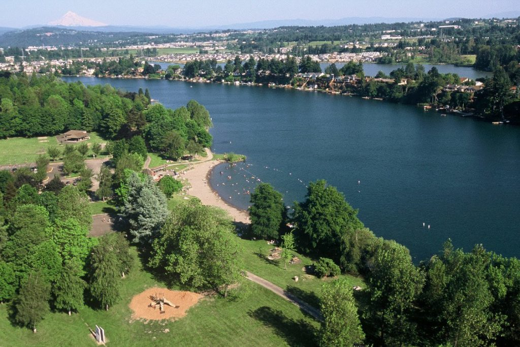 Blue Lake Regional Park (areal view)